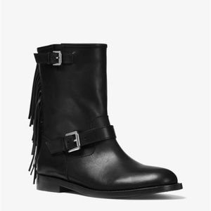 MICHAEL KORS Fringed Leather Boots✨New!